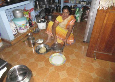 Intialainen keittiö sisätiloissa