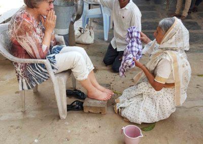 Jacobin äiti pesee jalat